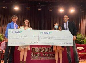 Terrebonne High Seniors Awarded Dr. Chad Domangue Family Medical Merit Scholarship